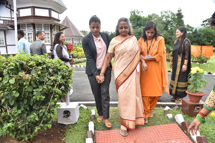 The First Lady of Meghalaya, Smt Anuradha Roy arrives at the Celebration for the 73rd Independence Day at Raj Bhavan, Shillong on the 15th August 2019