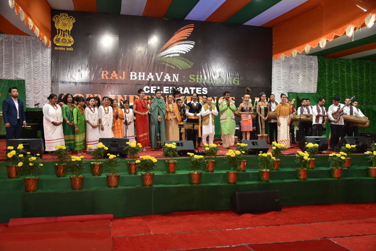The 32 artist grace the Celebration with their performance during the the 73rd Independence Day Celebration at Raj Bhavan, Shillong on the 15th August 2019